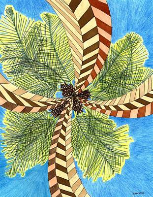 Drawing - Four Palms by Lesa Weller
