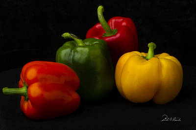 Four Peppers Art Print by Frederic A Reinecke