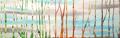 Four Seasons Tree Nature Summer Painting - Four Seasons by Heather  Hubb