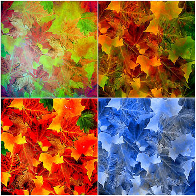 Colorful Abstract Digital Art - Four Seasons In Abstract by Lourry Legarde