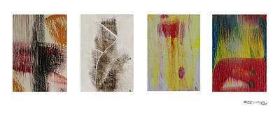 Four Seasons In Abstract Art Print by Xoanxo Cespon