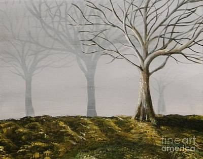 Painting - Four Trees by Steven Dopka