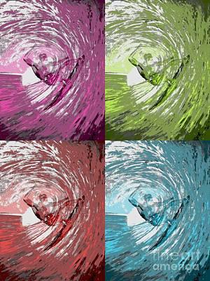 Four Waves Art Print by RJ Aguilar