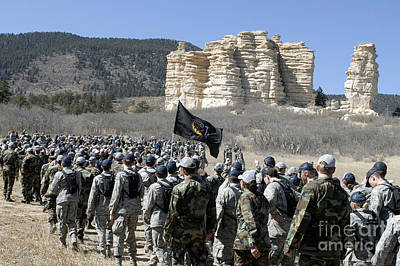 Cathedral Rock Photograph - Fourth-class Cadets Arrive At Cathedral by Stocktrek Images