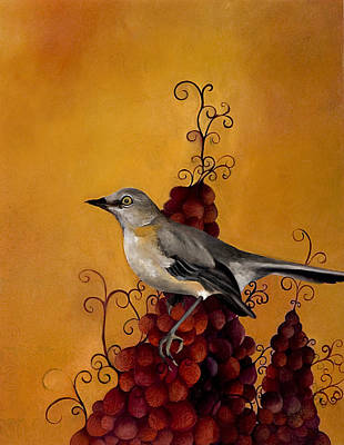 Fowlmere Mockingbird Original by Resa Blatman