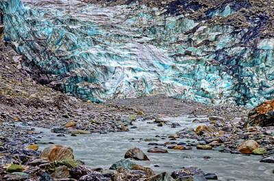 Photograph - Fox Glacier Closeup by Harry Strharsky