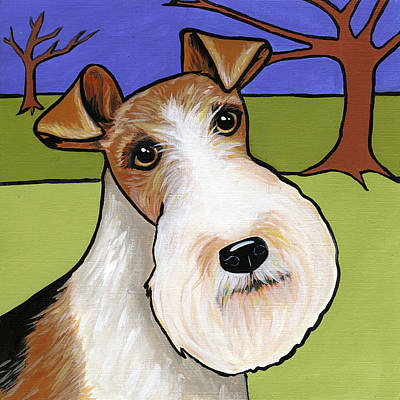 Painting - Fox Terrier by Leanne Wilkes