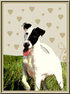 Fox Terrier Digital Art - Fox Terrier Smooth by One Rude Dawg Orcutt