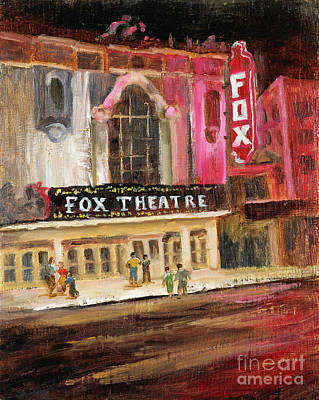 Painting - Fox Theatre by Vic  Mastis