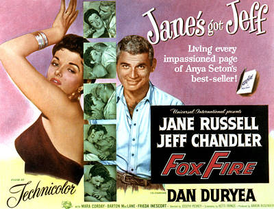 Fid Photograph - Foxfire, Jane Russell, Jeff Chandler by Everett