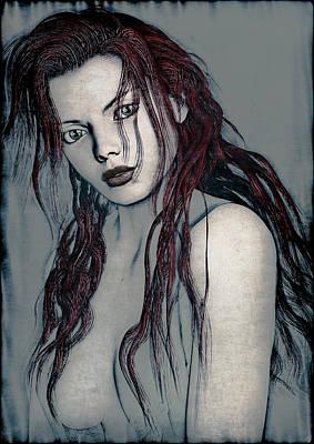 Foxy Redhead Art Print