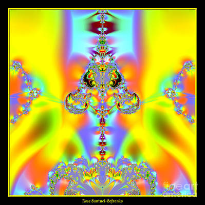 Fractal Digital Art - Fractal 10 Alien  by Rose Santuci-Sofranko