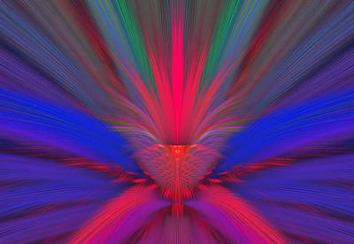 Colorful Abstract Digital Art - Fractal 40 by Sandy Keeton