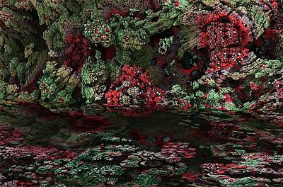 Digital Art - Fractal Alien Landscape by David Lane