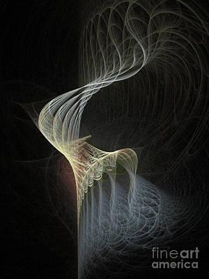 Digital Fractal Flame Art Digital Art - Fractal Bonnet by Ann Garrett