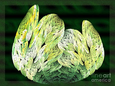 Cabbage Digital Art - Fractal Cabbage Leaf by Andee Design