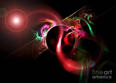 Digital Art - Fractal Flare by Erica Hanel