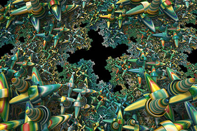 Digital Art - Fractal Landscape II by Manny Lorenzo