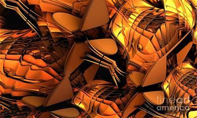 Fractal - Orchestra Art Print by Bernard MICHEL