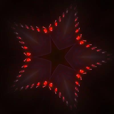 Fractal Star Print by Steve K