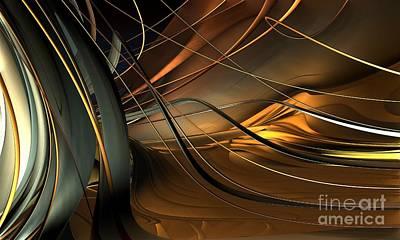 Fractal - Strings Art Print by Bernard MICHEL