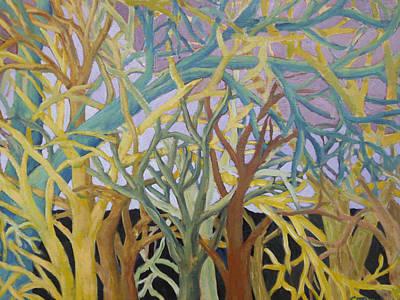 Fractal Trees Art Print by Rosemary Cotnoir