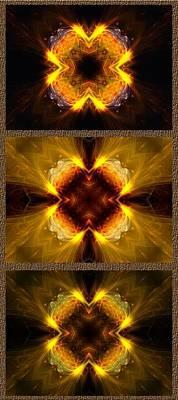 Photograph - Fractal Triptych by Ellen Heaverlo