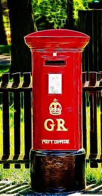 Fractalius Pillar Box Art Print by Chris Thaxter