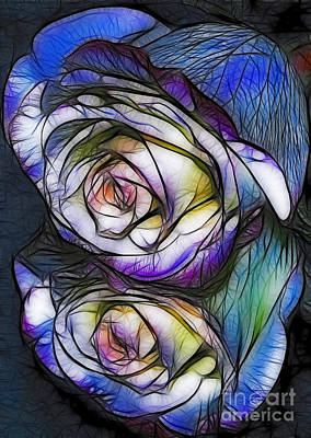 Fractalius Rose Reflection Art Print by Marianne Troia