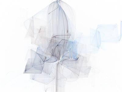 Fragile Blue Essence Art Print