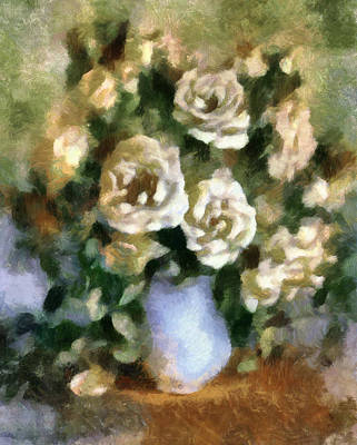 Mixed Media - Fragrant Roses by Georgiana Romanovna