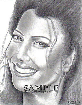 T-shirt Designs Drawing - Fran Drescher by Rick Hill