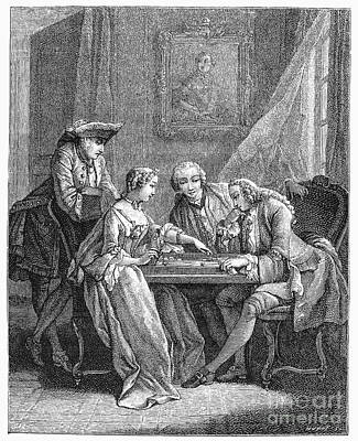 Backgammon Photograph - France: Backgammon, C1750 by Granger