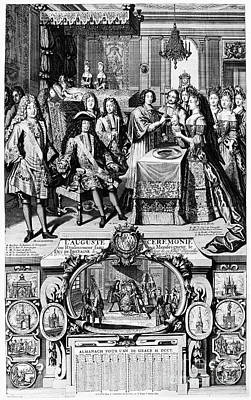 1704 Photograph - France: Baptism, 1704 by Granger