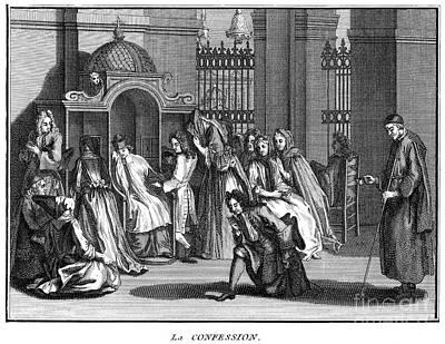 Confession Photograph - France: Confession, C1730 by Granger