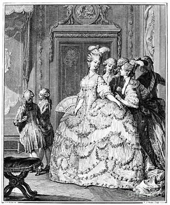 Ladies In Waiting Photograph - France: Court Life, 1780 by Granger