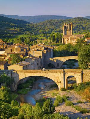 France, Languedoc, Lagrasse At Sunnrise Art Print by Shaun Egan