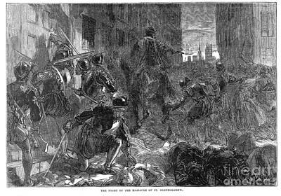 France: Massacre, 1572 Art Print by Granger