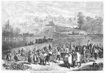 France: Wine Harvest, 1871 Art Print