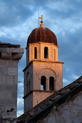 Medieval Temple Photograph - Franciscan Monastery Tower At Sunset by Artur Bogacki