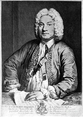 Francois Couperin (1668-1733). French Composer And Organist. Copper Engraving, 1725, By Joseph Flipart After A. Bouys Art Print by Granger