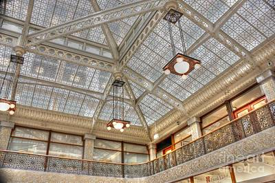 Photograph - Frank Lloyd Wright's Rookery Ceiling by David Bearden