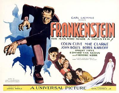 Frankenstein, Boris Karloff, John Art Print