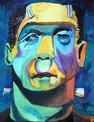 Frankenstein In Colour Art Print by Jacquie Waldman