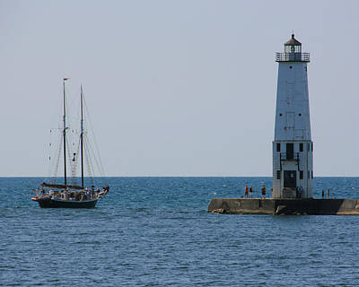 Photograph - Frankfort North Breakwater Lighthouse by George Jones