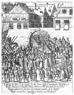 Frankfurt Jews, 1616 Art Print by Granger