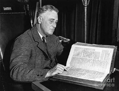 Franklin D. Roosevelt, 32nd American Art Print by Photo Researchers