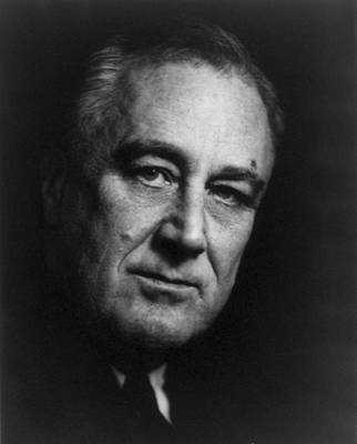 Franklin Delano Roosevelt  - President Of The United States Of America Art Print by International  Images