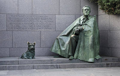 Franklin Delano Roosevelt Memorial - Washington Dc Art Print by Brendan Reals