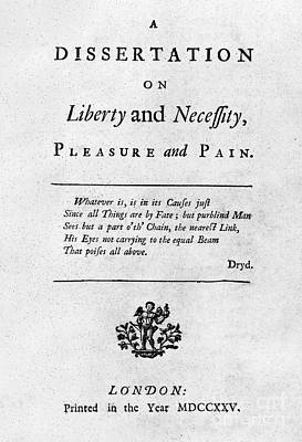 Franklin: Title Page, 1725 Art Print by Granger